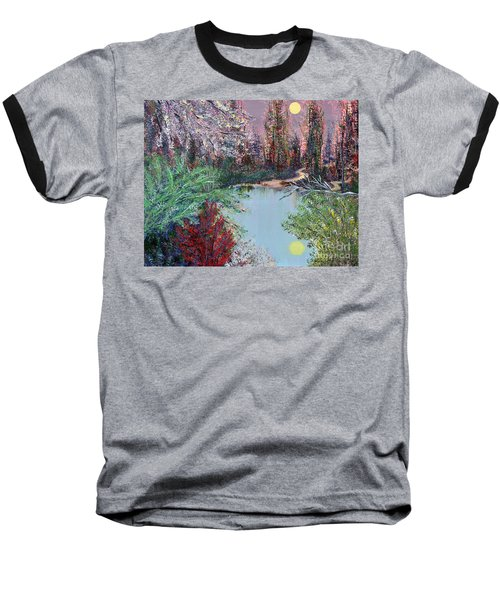 Lake Tranquility Baseball T-Shirt by Alys Caviness-Gober