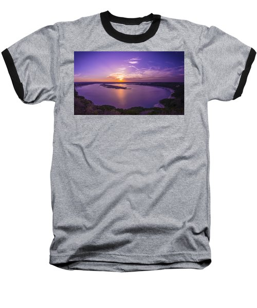 Lake Travis Sunset Baseball T-Shirt