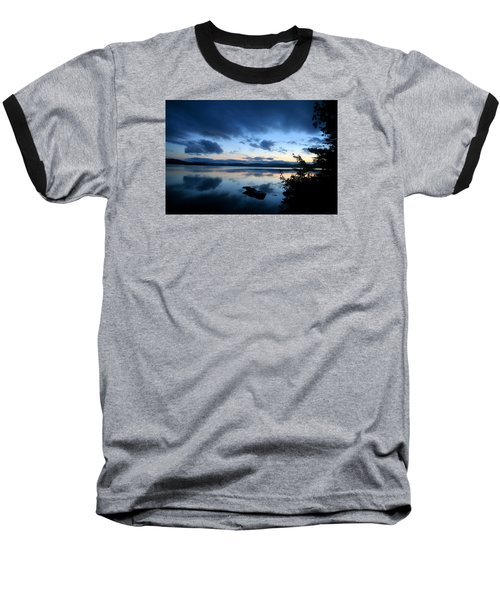 Lake Umbagog Sunset Blues No. 2 Baseball T-Shirt
