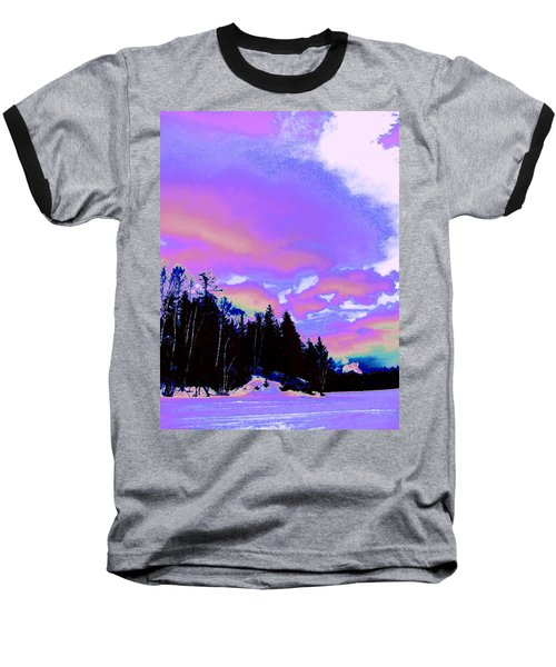 Winter  Snow Sky  Baseball T-Shirt