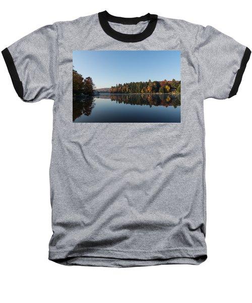 Lakeside Cottage Living - Peaceful Morning Mirror Baseball T-Shirt