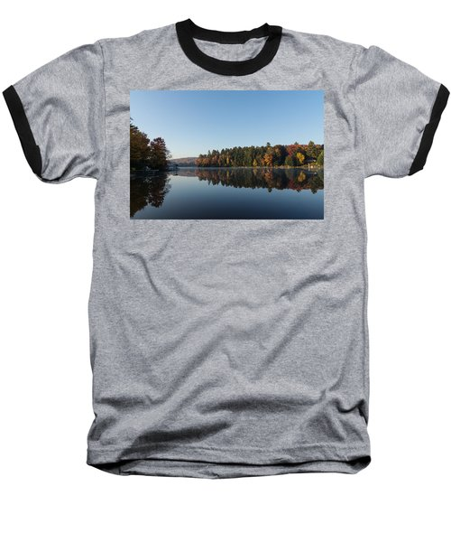 Lakeside Cottage Living - Peaceful Morning Mirror Baseball T-Shirt