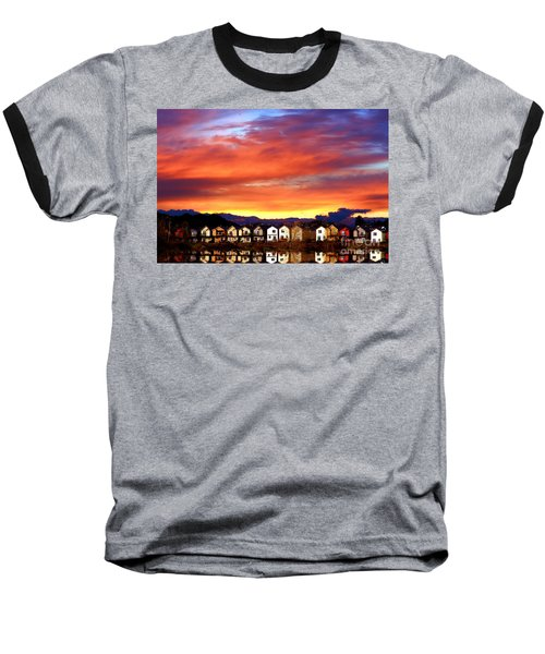 Lakeside Reflections Baseball T-Shirt by Nick Gustafson