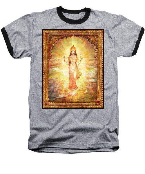 Lakshmi The Goddess Of Fortune And Abundance Baseball T-Shirt by Ananda Vdovic