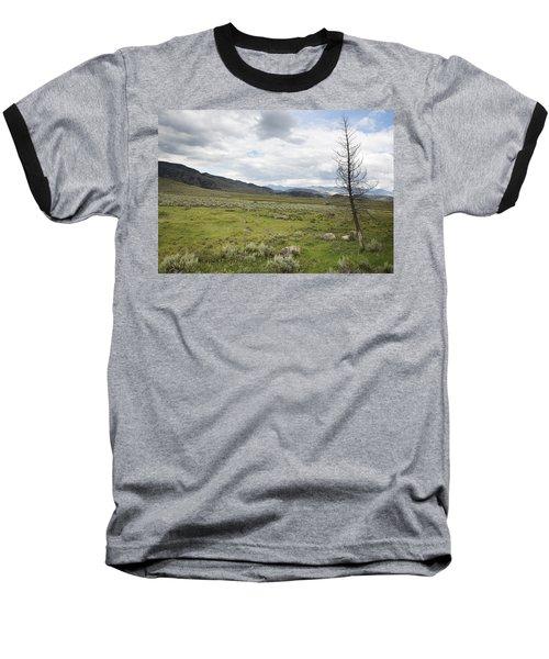 Baseball T-Shirt featuring the photograph Lamar Valley No. 1 by Belinda Greb