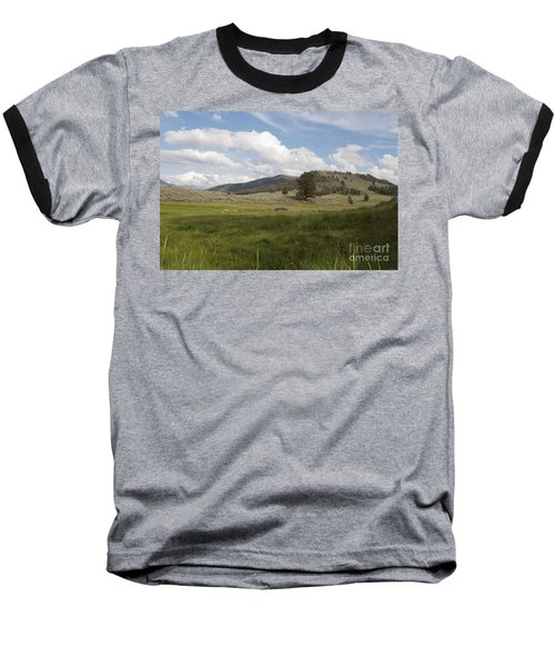 Baseball T-Shirt featuring the photograph Lamar Valley No. 2 by Belinda Greb