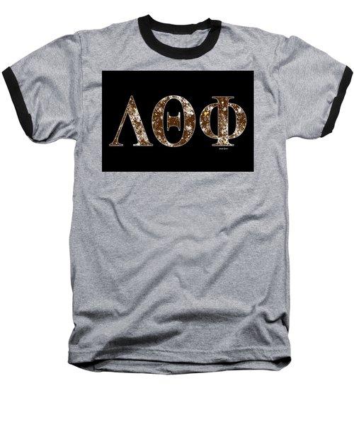 Baseball T-Shirt featuring the digital art Lambda Theta Phi - Black by Stephen Younts