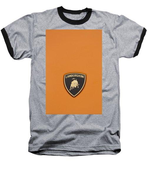 Lambo Hood Ornament Orange Baseball T-Shirt