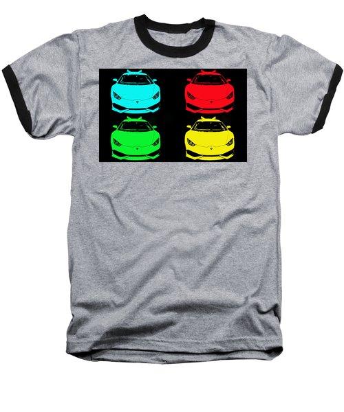 Lambo Pop Art Baseball T-Shirt