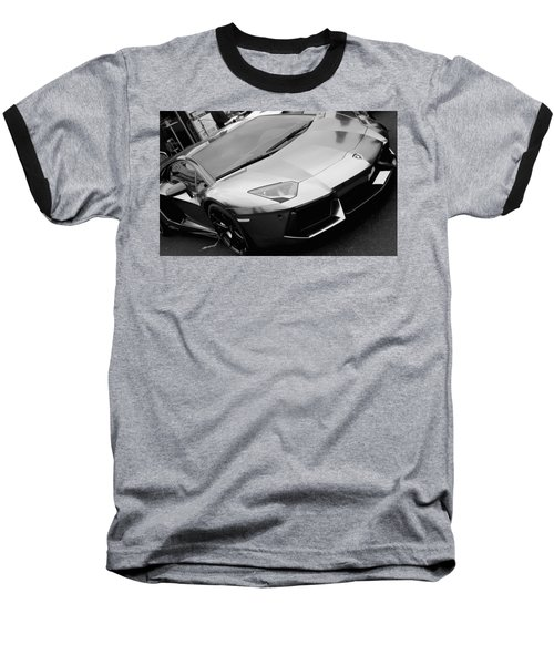 Black And White Shine Baseball T-Shirt
