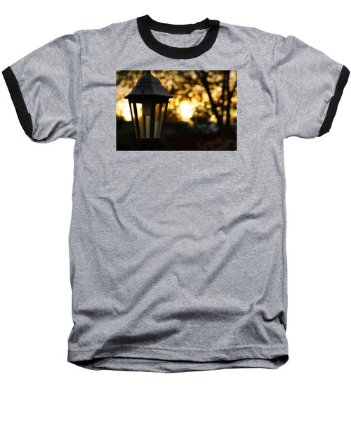 Baseball T-Shirt featuring the photograph Lamplight by Photographic Arts And Design Studio