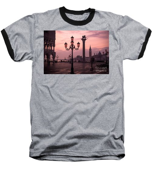 Lamppost Of Venice Baseball T-Shirt