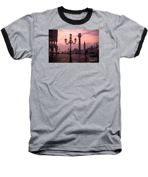Lamppost Of Venice Baseball T-Shirt