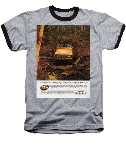 Land Rover Defender 90 Ad Baseball T-Shirt