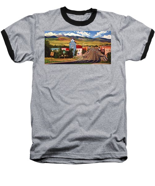 Baseball T-Shirt featuring the painting Lander 2000 by Art James West