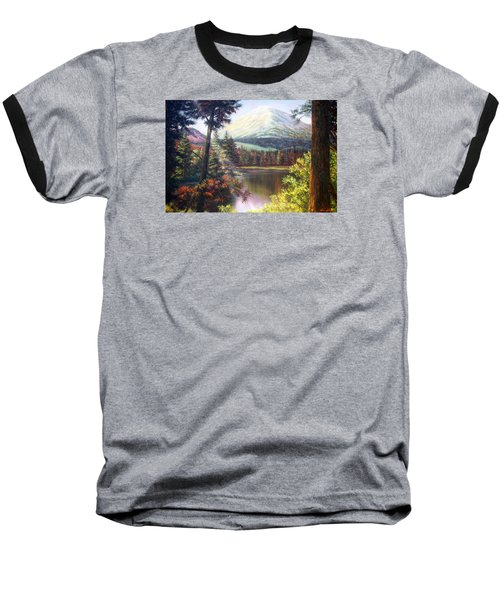 Landscape-lake And Trees Baseball T-Shirt by Loxi Sibley