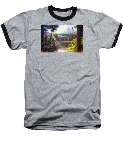 Landscape-lake And Trees Baseball T-Shirt