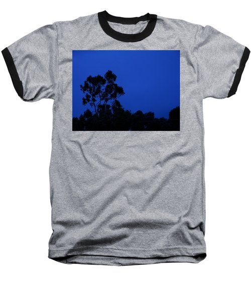 Baseball T-Shirt featuring the photograph Blue Landscape by Mark Blauhoefer