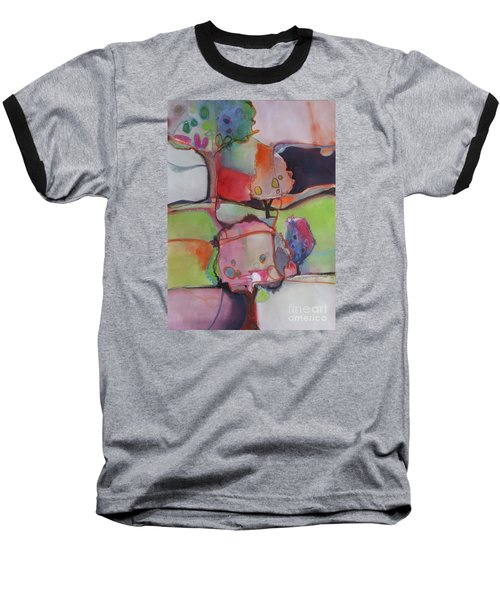 Baseball T-Shirt featuring the painting Landscape by Michelle Abrams