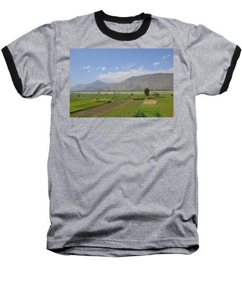 Baseball T-Shirt featuring the photograph Landscape Of Mountains Sky And Fields Swat Valley Pakistan by Imran Ahmed