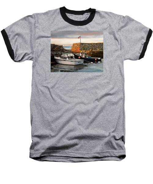 Lanes Cove Fishing Boats Baseball T-Shirt
