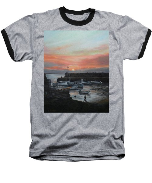 Lanes Cove Sunset Baseball T-Shirt by Eileen Patten Oliver