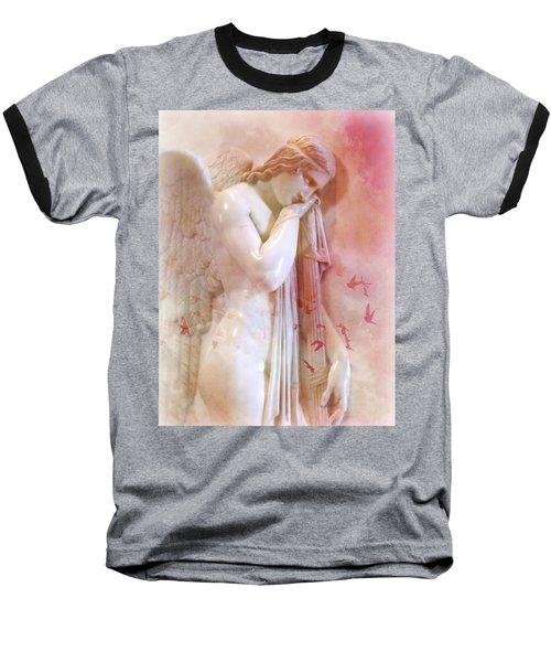 L'angelo Celeste Baseball T-Shirt