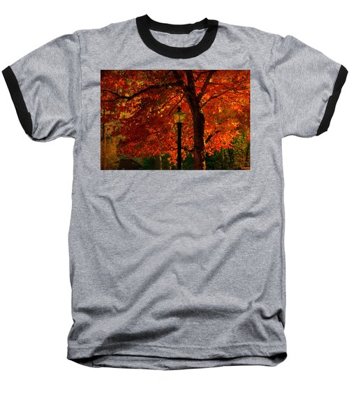 Lantern In Autumn Baseball T-Shirt