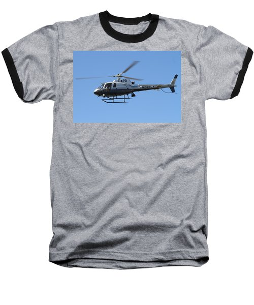 Lapd In Flight Baseball T-Shirt by Shoal Hollingsworth