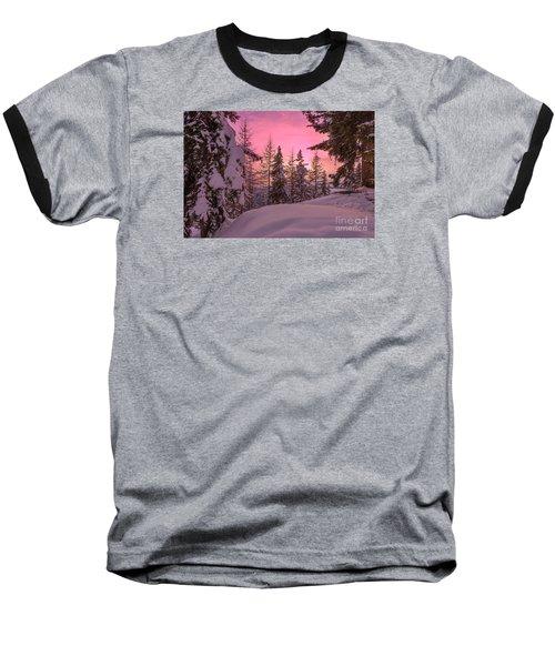 Lapland Sunset Baseball T-Shirt by IPics Photography
