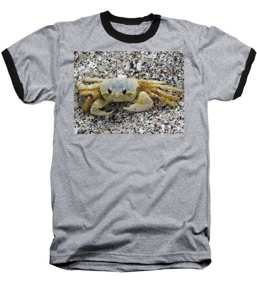 Baseball T-Shirt featuring the photograph Ghost Crab by Cynthia Guinn