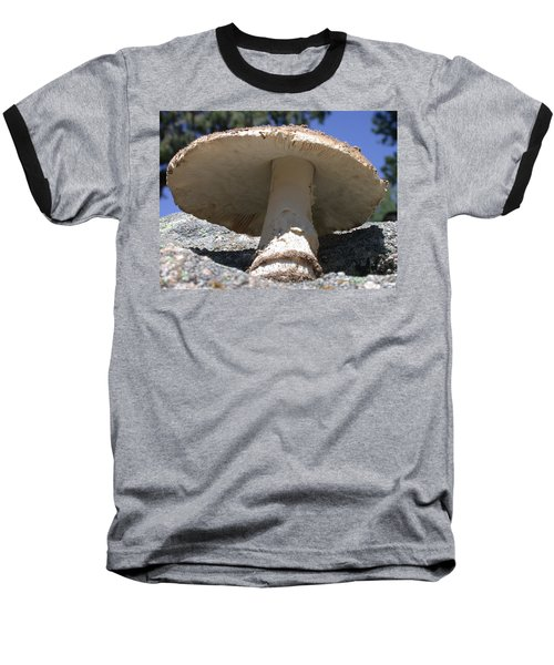 Large Mushroom Baseball T-Shirt