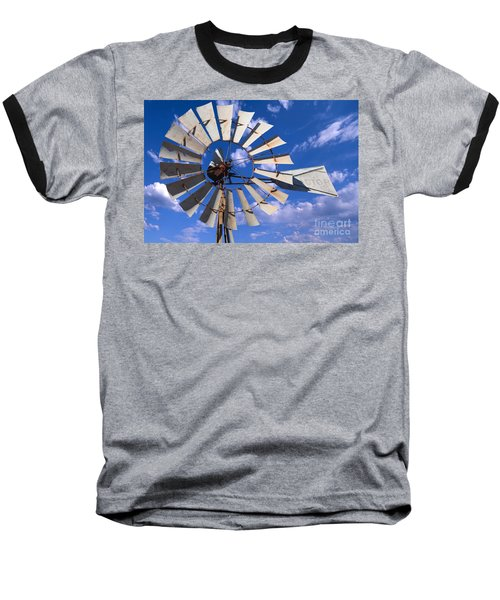 Large Windmill Baseball T-Shirt