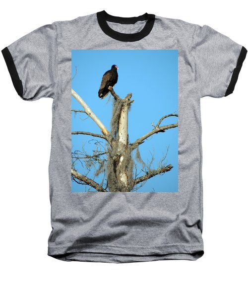 Larry Buzzard Vulture Baseball T-Shirt