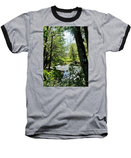 Baseball T-Shirt featuring the photograph Larwood Stream by VLee Watson