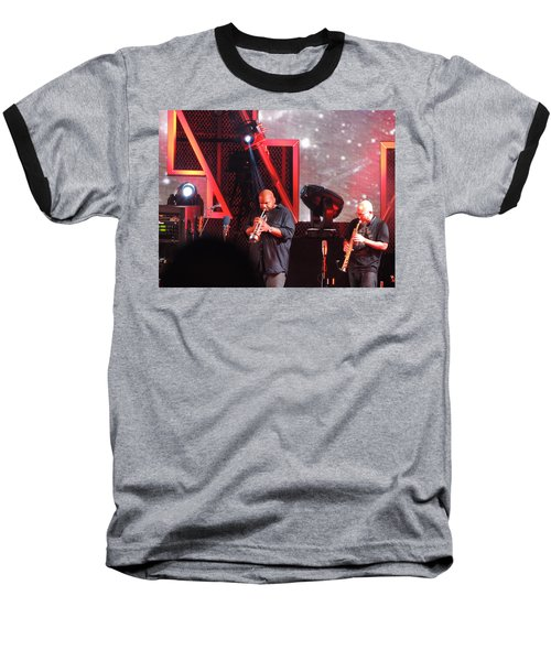 Baseball T-Shirt featuring the photograph Lashawn Ross And Jeff Coffen by Aaron Martens