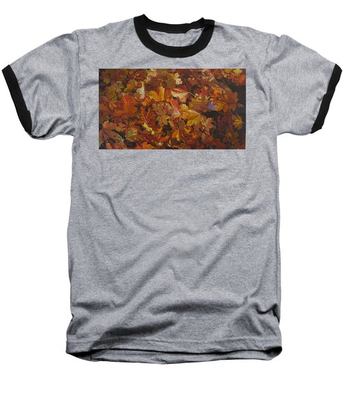 Baseball T-Shirt featuring the painting Last Fall In Monroe by Thu Nguyen