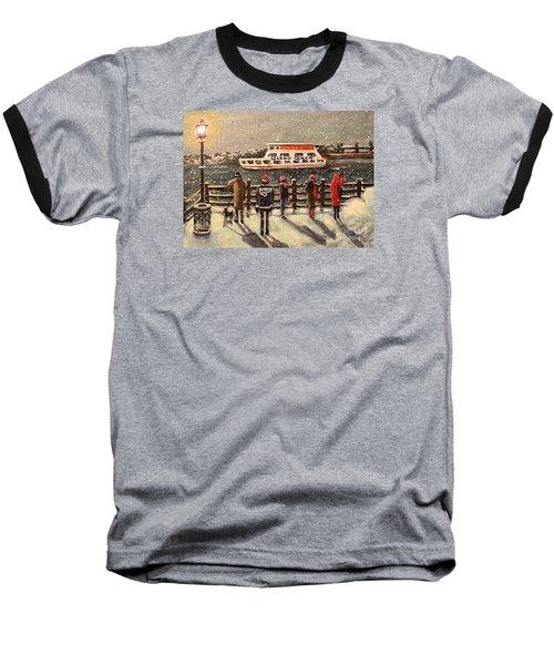 Last Ferry Baseball T-Shirt by Rita Brown