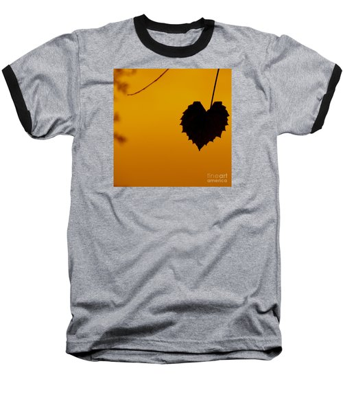 Baseball T-Shirt featuring the photograph Last Leaf Silhouette by Joy Hardee