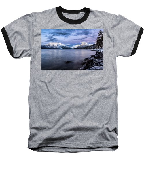 Baseball T-Shirt featuring the photograph Last Light by Aaron Aldrich