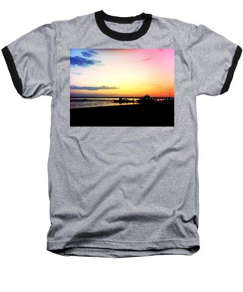 Last Light Baseball T-Shirt by Denyse Duhaime