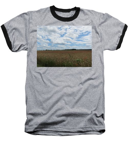 Baseball T-Shirt featuring the photograph Last Of The Poppies by Pema Hou