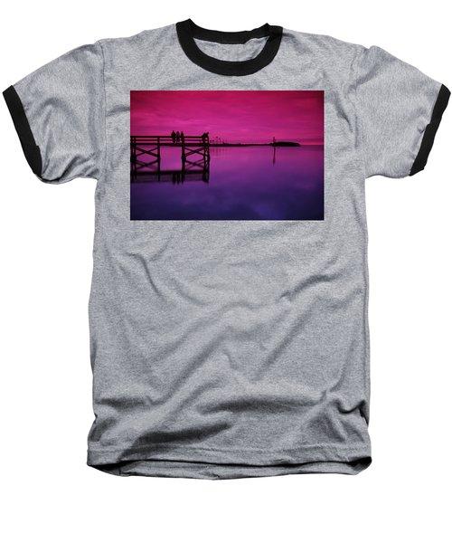 Last Sunset Baseball T-Shirt by Beverly Stapleton