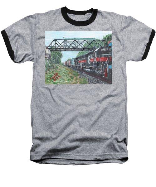 Last Train Under The Bridge Baseball T-Shirt
