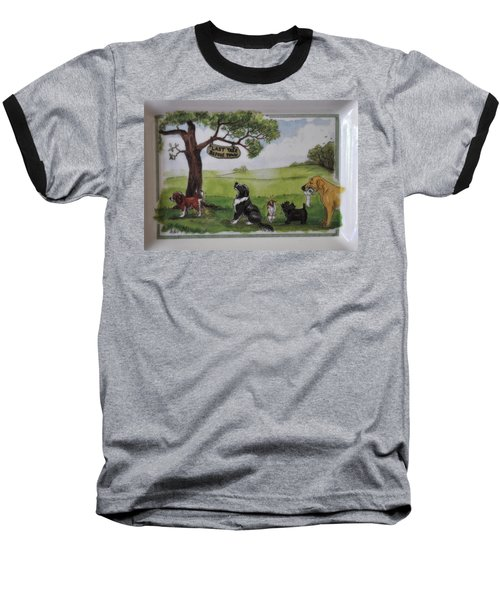 Last Tree Dogs Waiting In Line Baseball T-Shirt