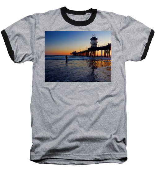 Baseball T-Shirt featuring the photograph Last Wave by Tammy Espino