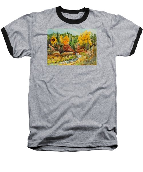 Latah Creek Fall Colors Baseball T-Shirt