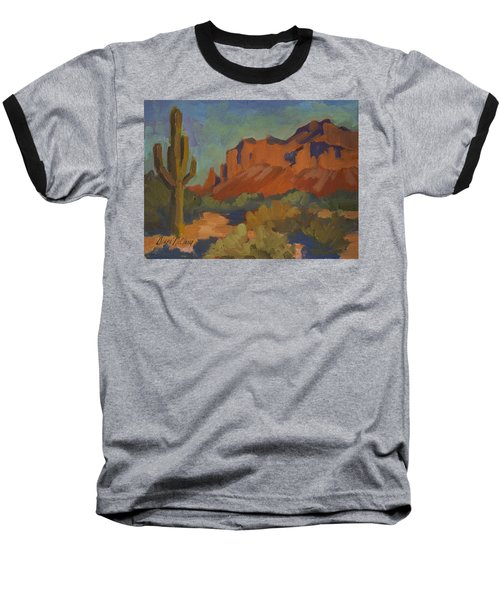 Late Afternoon Light At Superstition Mountain Baseball T-Shirt by Diane McClary
