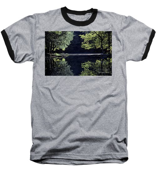 Late Afternoon Reflection Baseball T-Shirt by Kevin McCarthy