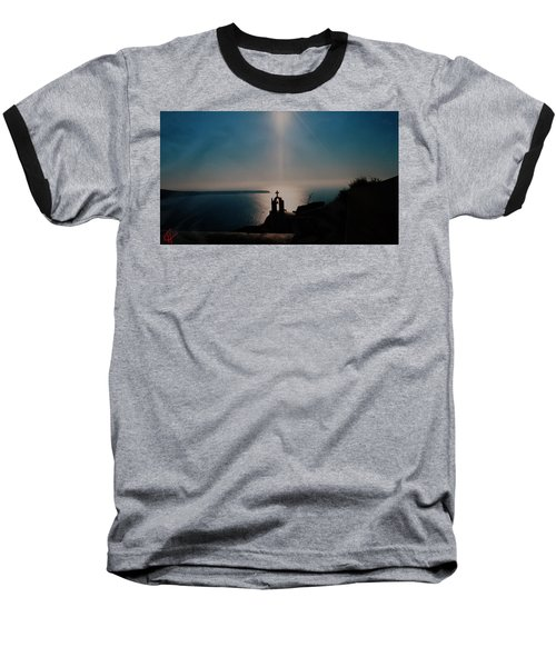 Late Evening Meditation On Santorini Island Greece Baseball T-Shirt